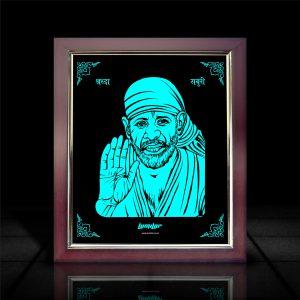 Sai Baba LumiLor Frame l Buy Saibaba Photo Frames Online-LumilorStore